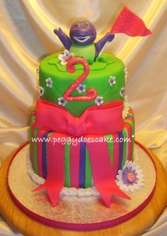 Barney Cake By peggyslee on CakeCentral.com