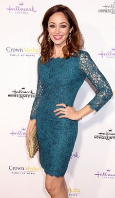 Autumn Reeser, love this teal lace dress More