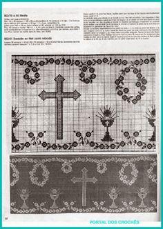 PORTAL DOS CROCHÊS: ESQUEMAS PARA BARRADOS DE CROCHÊ COM MOTIVOS RELIGIOSOS