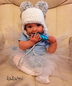 CUSTOM Crochet Snow Angel White Glitter Newborn Baby Toddler Girl Beanie Fun Hat Costume Photo Prop. $25.00, via Etsy.