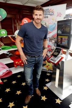 David Boreanaz attends the Nintendo Lounge on the TV Guide Magazine Yacht at Comic-Con.