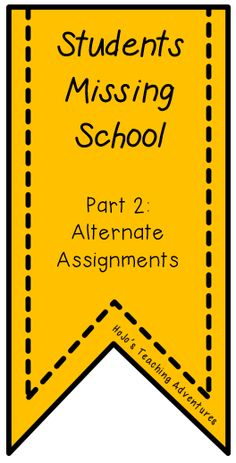 Do you have students who miss a lot of school days? Or maybe a parent has informed you their child will be gone for an extended vacation. Here are some ideas to help you out!