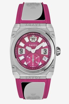 Savoy Watches Icon Light Ladies 35mm Stainless steel 316L with ss screws – Hot Pink MOP Dial S311A1P0901R9026  #SavoyIndia