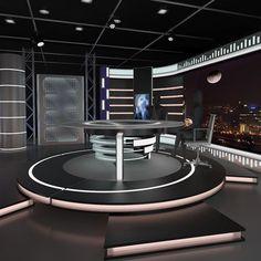 Virtual Tv News Set 11 | 3D model