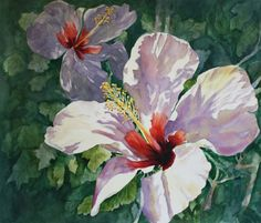 Hibiscus Art ACEO Watercolor Print 279 Radiant by watercolorsNmore, $3.00 #pcfteam