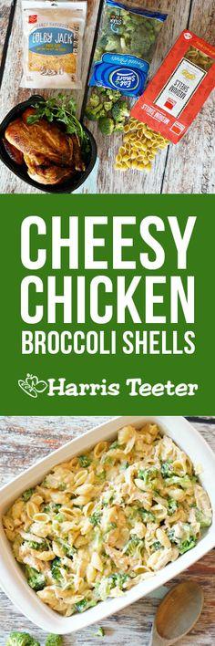 Cheesy Chicken Broccoli Shells