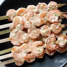 Bangin' Grilled Shrimp Skewers. Bang Bang Shrimp. Did this in a pan on ...