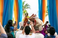 Mexico Destination Outdoor Indian Wedding Ceremony Indian Destination Wedding, Outdoor Indian Wedding, Indian Wedding Ceremony, Indian Wedding Pictures, Wedding Photo Gallery, Photo Galleries, Mexico, In This Moment, Photography