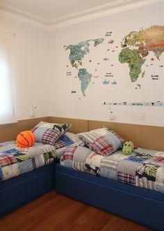 Casa de Valentina; decoração; projeto; apartamento; quarto de criança; menino