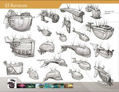 El Reviron ✤ || CHARACTER DESIGN REFERENCES | Find more at https://www.facebook.com/CharacterDesignReferences if you're looking for: #line #art #character #design #model #sheet #illustration #expressions #best #concept #animation #drawing #archive #library #reference #anatomy #traditional #draw #development #artist #pose #settei #gestures #how #to #tutorial #conceptart #modelsheet #cartoon #blueprint #planes #Flyng #machines #airship #spaceship @Rachel Oberst Design References