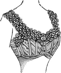 1902 short brassiere from http://commons.wikimedia.org/wiki/File:AuBonMarcheCorsetsPage5b.gif