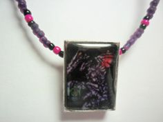 Video game necklace Super Metroid Ridley by ReturnersHideout, $12.50