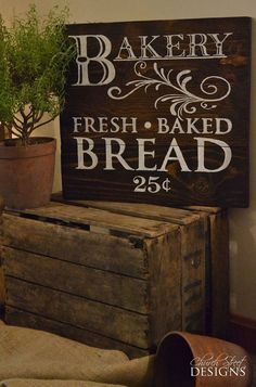 painted bakery signs - Google Search