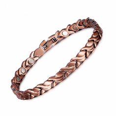 Cuivre Bracelete for Health and Arthritis Thérapie Unisexe Nouveau Stock Ancien Fait Main Nº 5 Or