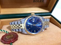 Buy Of The Day, Rolex Mens Oyster Perpetual DateJust Solid Gold SS Watch - http://menswomenswatches.com/buy-of-the-day-rolex-mens-oyster-perpetual-datejust-solid-gold-ss-watch/ COMMENT.