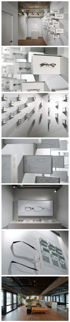 Space and sign design.   Eyewear museum for JAPONISM.