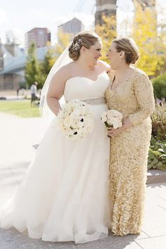 75e7f84ae76 Mothers Photos - Bride Laughs with Mother. Rose Gold Wedding DressBouquet  ...