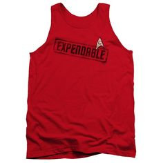 Star Trek/Expendable Adult Tank in