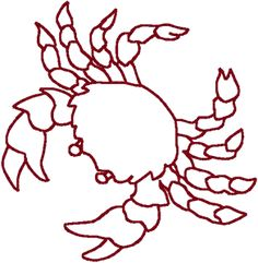 crab embroidery pattern - Google Search