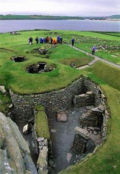 Viking Settlement, Jarlshof - near Sumburgh, Shetland Islands, Great Britain