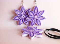 Quilled Paper Earrings by Yesterday's news - today's accessories