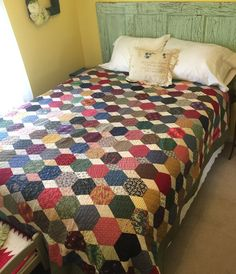 As promised, today I am taking a look back at some of my bigger hexie quilts. The first one shown here was made for a dear friend. All the fabrics are from Denyse Schmidt's lines. My version …