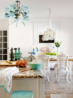 Vintage Kitchen Like Many A Modern Home The Opens Into Dining Room