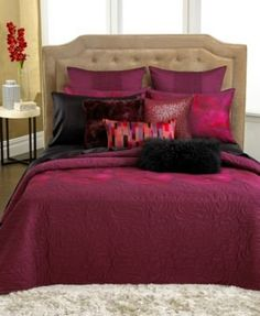 INC Isabella Standard Quilted Pillow Shams Fuchsia  Maroon Set of 2 ** Check out the image by visiting the link.