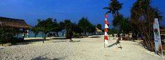 Pantai Pasir Perawan (Virgin Beach), Pulau Pari. www.pulauparisaulendra.com objek wisata bahari kepulauan seribu selatan bersama saulendra travel 08567391831