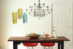 MOD Mid-Century Colonial - modern - dining room - dc metro - Studio MOD(ish); Benton Ceiling Lamp only $670::: http://mrsv.athome.com/80050038-brenton-ceiling-lamp.html