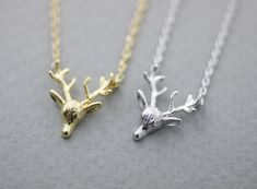 Luulla-Zizibejewelry-Antler, Elk Deer ,Deer head, Stag ,Reindeer Pendant-$11.50