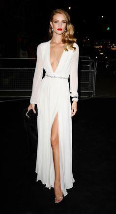 Rosie Huntington-Whiteley... yes!! love for wedding reception dress.. love!