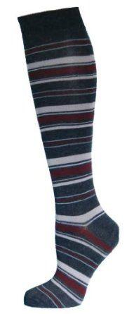 Cute Knee High Socks Striped Dark Grey Top Size: 9-11 Yelete. $7.95