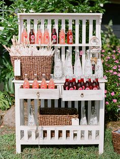 How perfect for a bridal shower or even a set up for an outdoor summer ceremony