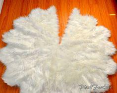 Faux Fur Tree Skirt Christmas Tree Decor White Sheepskin Faux Fur Luxurious Decor Gifts
