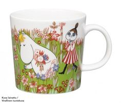 Moomin Summer Mug 2016 - Midsummer from Arabia by Tove Jansson, Tove Slotte Moomin Shop, Moomin Mugs, Moomin Valley, Tove Jansson, Different Flowers, Marimekko, Scandinavian Design, Coffee Cups, Ceramics