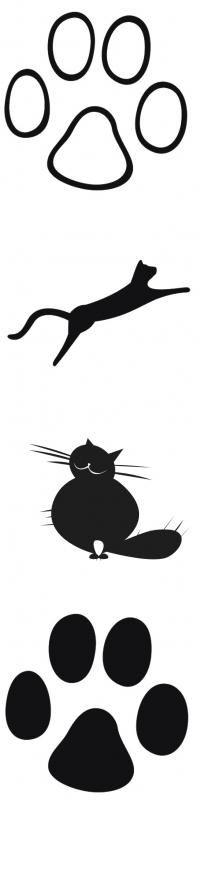 Cat paw stickers