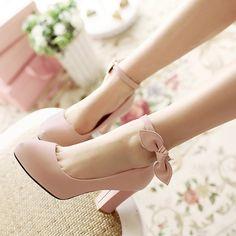 pink bowknot heels