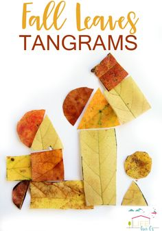 Kids will love to use this fall leaves tangram activity to build skills like spatial awareness, math, and even handwriting!