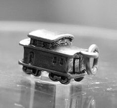 50  year old design 3d train car charm sterling silver Real Sterling silver 925 pendant Charm jewelryLike this item find it at https://www.etsy.com/shop/princeofdiamonds