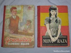 dos libros de escuela-antiguos- NUEVA RAZA DE 1962 Y GRAMATICA 2 GRADO DE 1951 -BUEN ESTADO-EL DE L - Foto 1