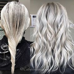 Gray Wig Lace Frontal Wigs Indian Gooseberry Powder For Grey Hair Platinum Blonde Hair Frontal Gooseberry Gray grey Hair Indian Lace Powder Wig Wigs White Ombre Hair, Ombre Hair Color, Hair Colors, Platinum Blonde Hair, Grey Blonde Hair, Icy Blonde, Brown Blonde, Natural Hair Styles, Long Hair Styles