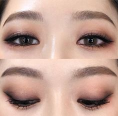 Make-up Asian Monolid Eyeliner Ideen - Wedding Makeup Classic Korean Makeup Look, Korean Makeup Tips, Asian Eye Makeup, Korean Makeup Tutorials, Korean Wedding Makeup, Asian Makeup Looks, Monolid Eyeliner, Makeup Eyeshadow, Korean Eyeliner