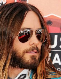 Jared Leto To Play The Joker? 'Dallas Buyers Club' Star In Talks For 'Suicide Squad,' Other Casting Rumors Most Beautiful Man, Gorgeous Men, Jared Leto Hot, Jered Leto, Dallas Buyers Club, Mirrored Sunglasses, Mens Sunglasses, Shannon Leto, Glamour