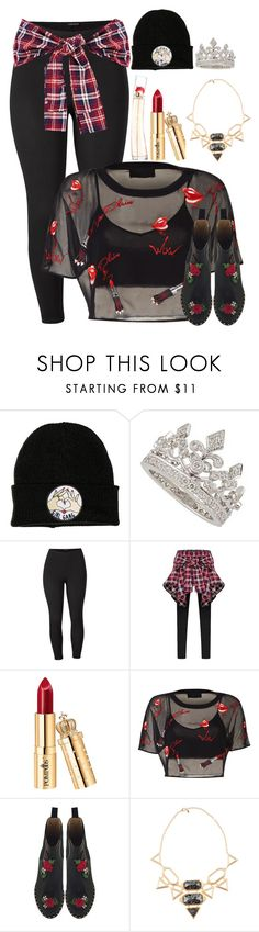 """""""Wow"""" by luckystrawberry ❤ liked on Polyvore featuring Garrard, Venus, Charlotte Olympia, Isharya, Kenzo and plus size clothing"""