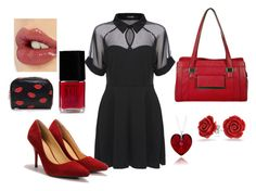Firey Red! by ohsosara64 on Polyvore featuring polyvore, fashion, style, Bling Jewelry, Charlotte Tilbury, Forever 21 and clothing