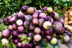 Luang Prabang market, Laos - eggplants