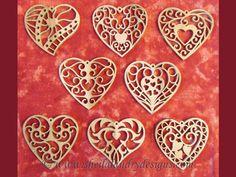 SLDK205 - Filigree Heart Ornaments