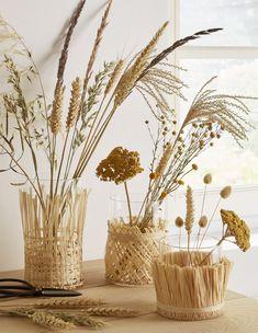 Des vases customisés avec du blé - Marie Claire Idées