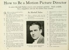 How to Be a Motion Picture Director (c. 1925)